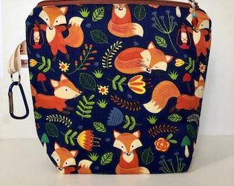 Knitting project bag  -FALL FOX