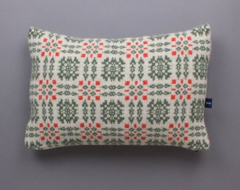 Welsh Check Cushion in Knitted Lambswool