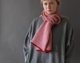 Humbug Striped Scarf in Knitted Lambswool