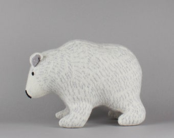 Polar Bear in Knitted Lambswool