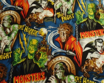 Classic Monsters Shirt, Mens  Size Small to 6XL,Dracula, Mummy,Wolfman, and Frankensteins Monster, Universal Monsters 100% Cotton, Custom