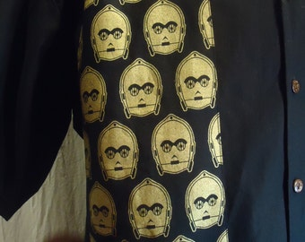 Star Wars C3PO Men's Shirt choose your size up to 6X 6Z90k