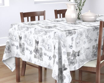 Big Trouble in Little China Tablecloth, Square or Rectangle Dining Table Cloth, Multiple Sizes, 100% Cotton Sateen,  Custom Printed