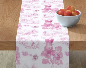 Big Trouble in Little China Table Runner, 100% Cotton Sateen, Three Sizes, Custom Printed, Jack Burton Lo Pan Pork Chop Express