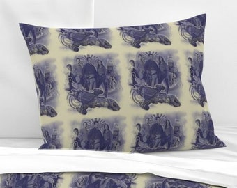Firefly Serenity Standard Pillow Sham, Knife Edge or Flanged, 100% Cotton,  Firefly Tv show, Custom Printed, Mal Zoe Jayne Wash