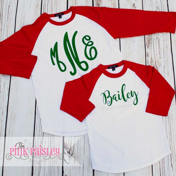 Personalized Christmas Tee Shirt Mommy And Me Ugly Sweater Etsy