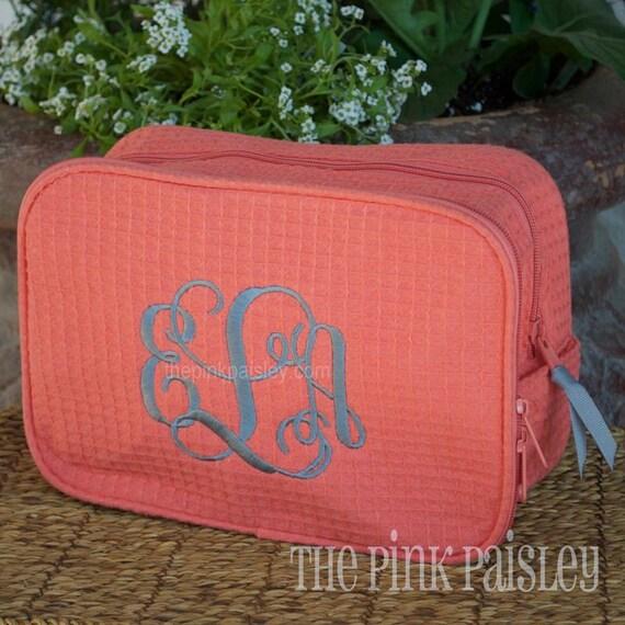 a0862d3871 Monogrammed MakeUp Bag Bridesmaid Gift Cosmetic Bag