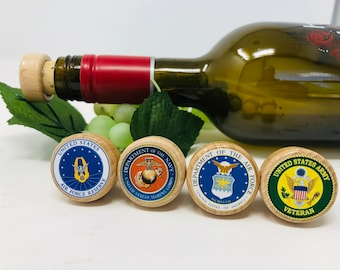 and ampersand Letters A-Z 0-9 /& dash Military Service Custom Branded Wine Barrel Bottle Openers comma Great gifts