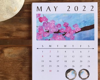 2022 Desk Calendar – Paintings from the Pandemic Year by Christi Sobel - *pages only*