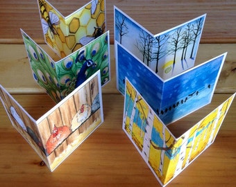 Tiny Square Gift Cards- assorted with envelopes