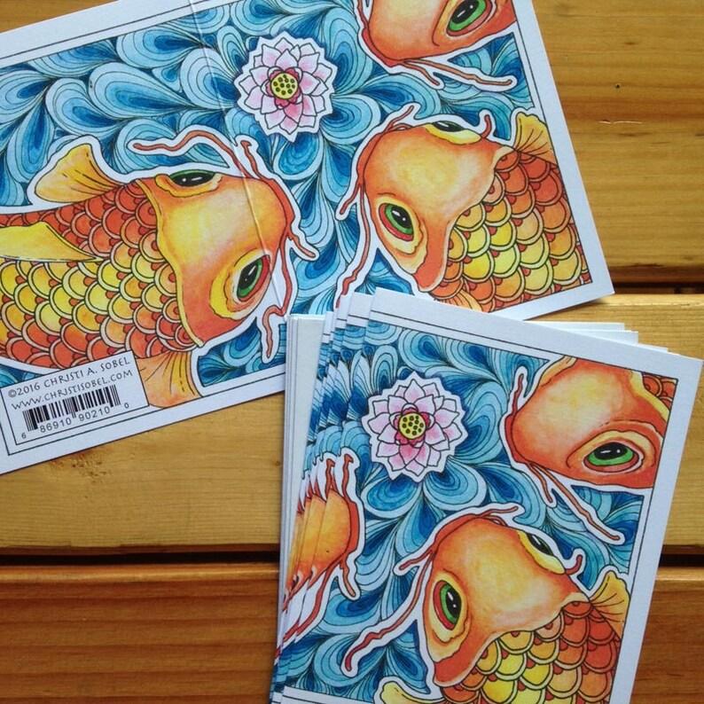 6 Koi Cards