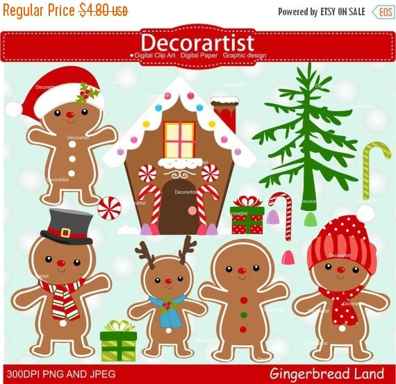Christmas Gingerbread House Cartoon.On Sale Christmas Gingerbread Clipart Gingerbread Clipart Gingerbread House Clipart Christmas Clipart Instant Download