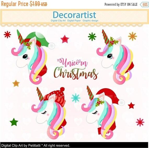 Christmas Unicorn.Christmas Unicorn Clipart Christmas Unicorns Clip Art Cute Pony Cute Christmas Horse Clip Art Scrapbook Unicorn Head Christmas