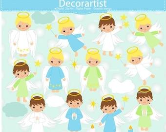 ON SALE Fairy clipart, christmas Fairy boy clipart, baby boy angle clipart, Fairies digital clipart, christmas angel clipart, angel clipart