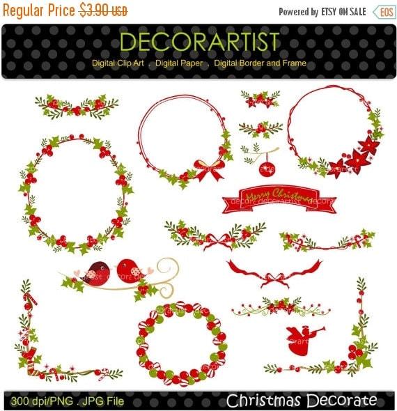 Auf Verkauf Weihnachten Clipart Rahmen Weihnachten Christmas Etsy
