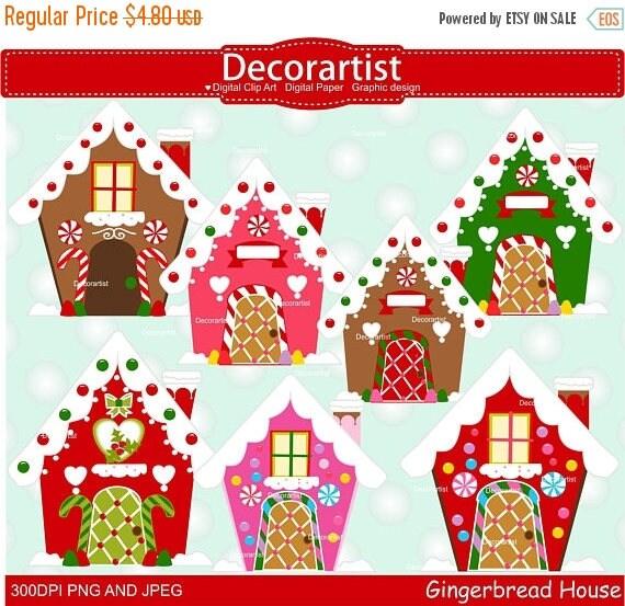 Clip Art Christmas.Christmas Gingerbread House Clip Art Gingerbread Clip Art Christmas House Clip Art Christmas Clipart Commercial Use Clip Art