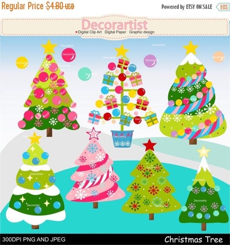 On Sale Christmas Clipart Christmas Tree Clipart Christmas Decoration Clipart Pink Christmas Clipart Christmas Girl Clipart Instant