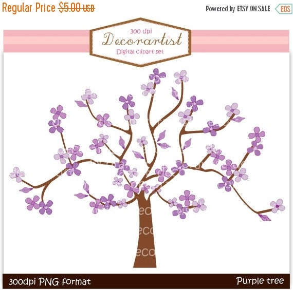 on sale tree clip art purple tree and butterflies instant etsy rh etsy com Blue Tree Clip Art Heart Tree Clip Art