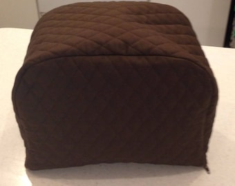 Zipper Toaster Cover 2 Slice Brown Quilted Fabric Kitchen and Home Decor Storage Small Appliance Cover Ready To Ship