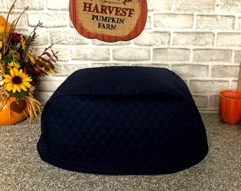 4 Slice Toaster Cover Navy Blue Made To Order Measure Toaster Before Ordering