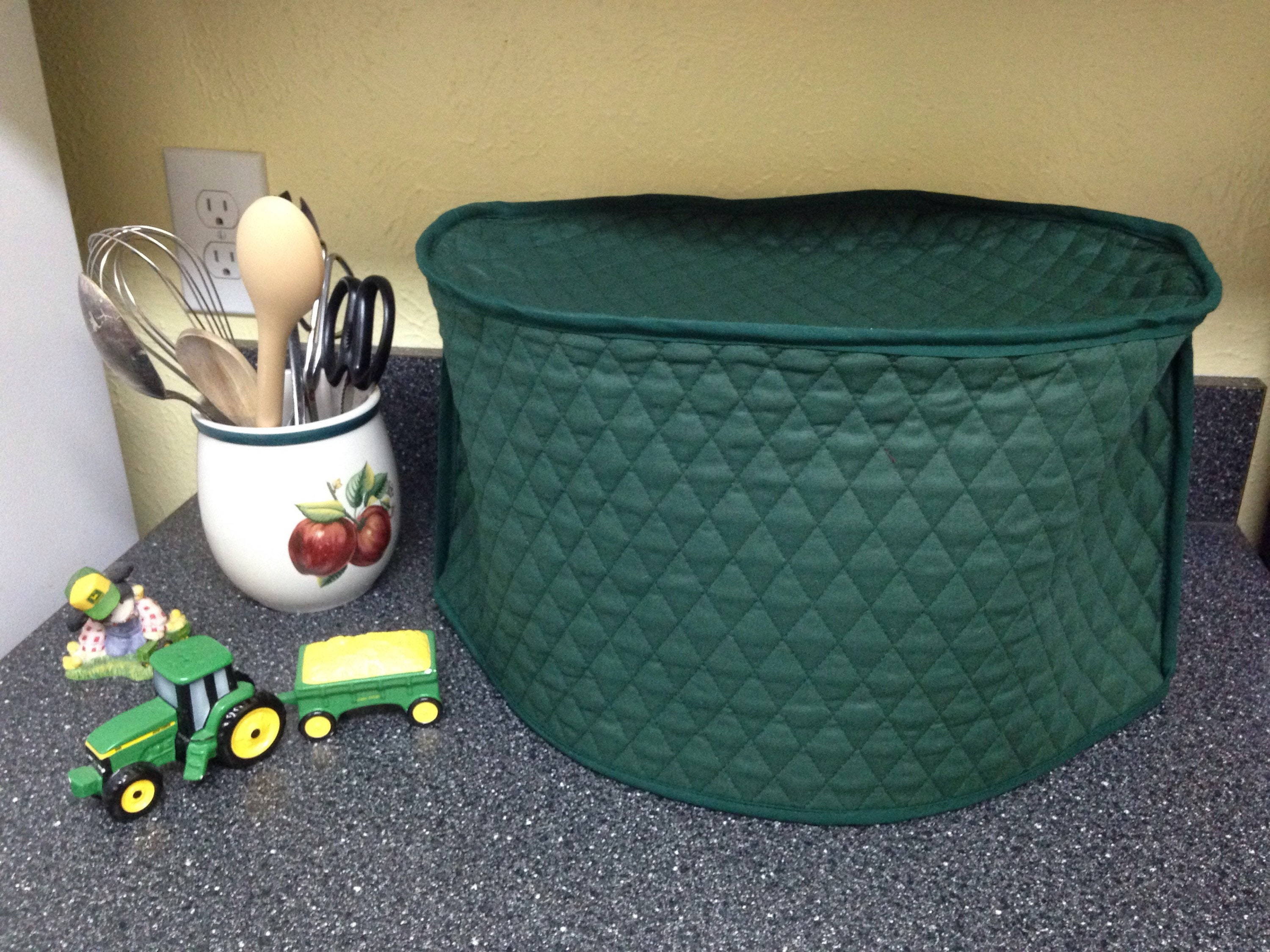 Hunter Green Pine Green Oval Crock Pot Cover Dust Cover | Etsy