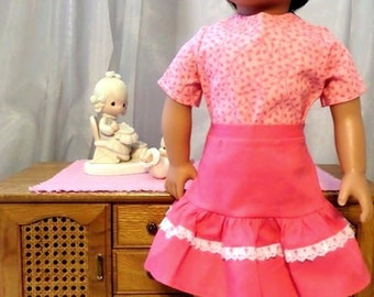 d558c5893d273e Pink Twirl Doll Skirt and Pink Short Sleeve Doll Blouse / 18 Inch Doll  Clothes / Doll Accessories / Doll Outfit / Fits American Girl Doll