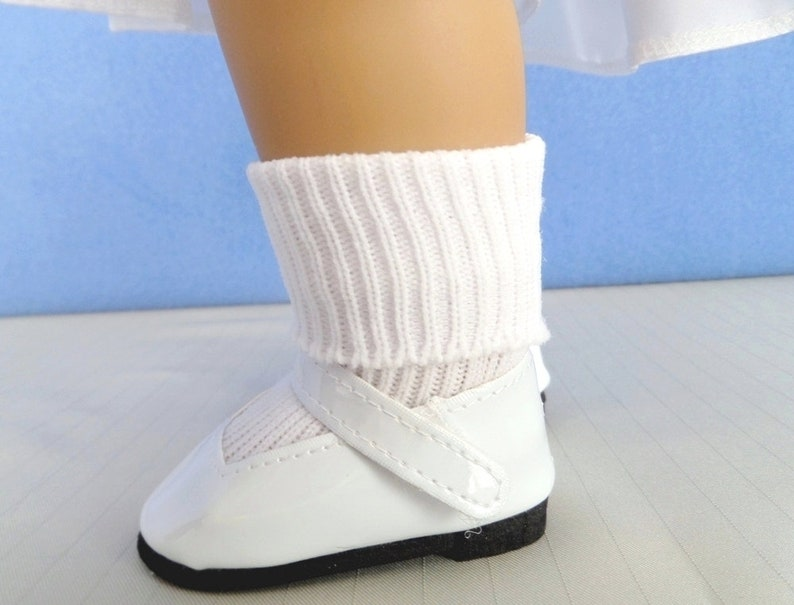 963cfdbdb88d1 First Communion - Mary Jane Doll Shoes and White Ankle Doll Socks / Doll  Accessories / Confirmation Gift / Fits American Girl Doll