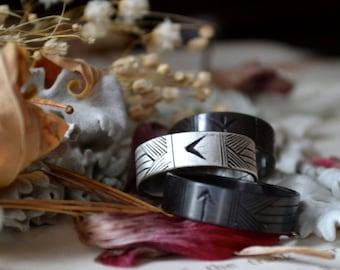 Men's Custom Rune Weaver Silver Ring