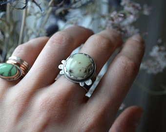 ON SALE- Lemon Drop Silver Jasper Ring