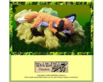 Little Fox Toy Knitting Pattern