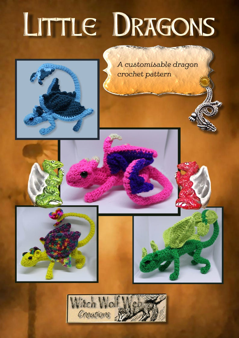 Ravelry: Small But Mighty Dragon pattern by Sharon Ojala   1123x794