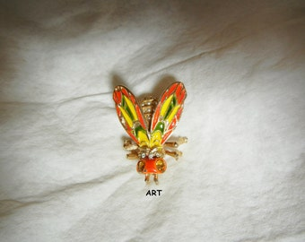 Enamel Snail Brooch Pin Rhinestone Crystal Collar Animal Brooch Jewelry new.TWUK
