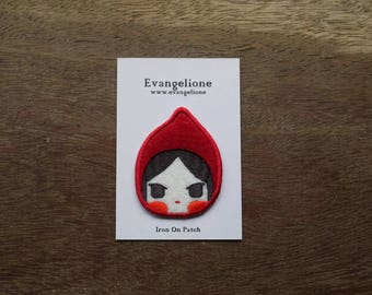 Little red riding hood embroidery iron on patch
