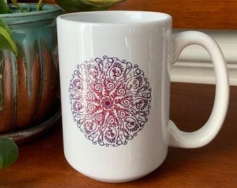 F It Mandala Naughty Words Ceramic Coffee Mug