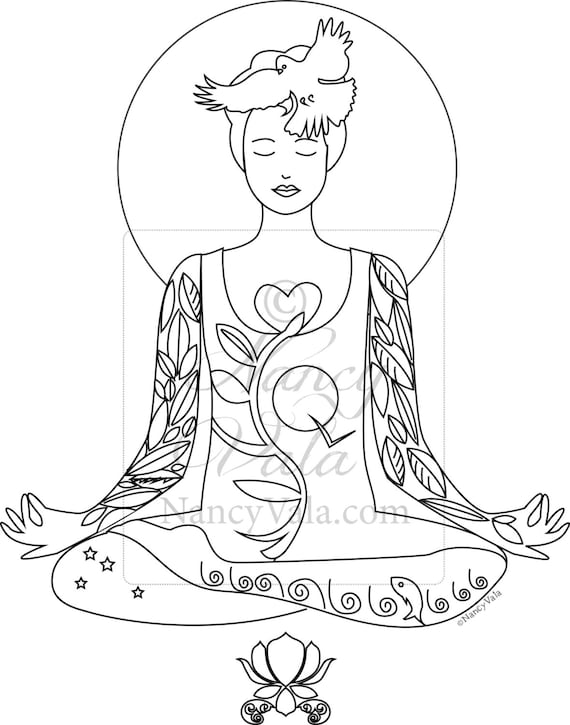 COLOR YOUR YOGA! Coloring Book Yoga Poses Tattoo Yogis