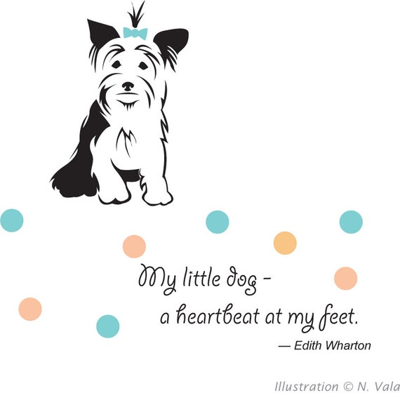 A Heartbeat At My Feet Yorkshire Terrier Dog Lovers Greeting Etsy