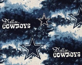 Dallas Cowboys fabric NFL quality cotton wide tie dye design face mask fabric