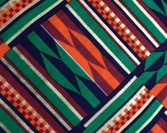 kente inspired cotton fabric by the yard quilting sewing masks