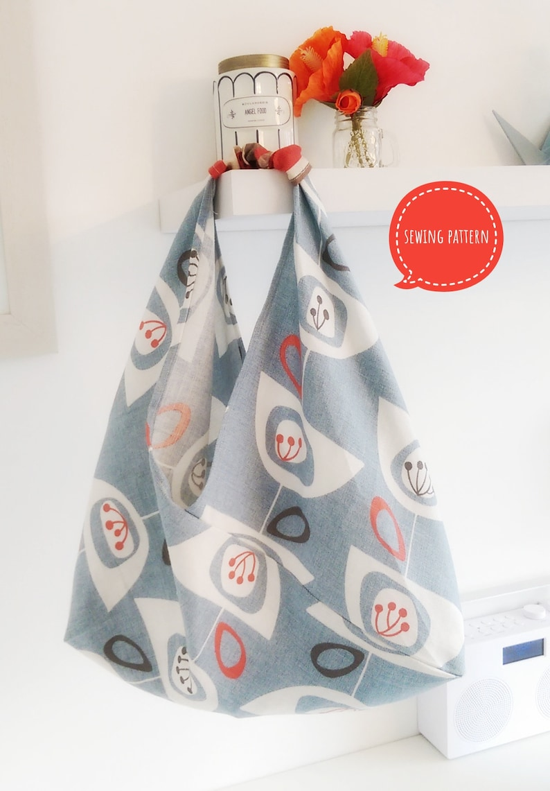 Boho Origami Tote Bag sewing pattern by Lillyblossom. Perfect for shopping  or holidays. Easy to follow instructions. a110444ff3813
