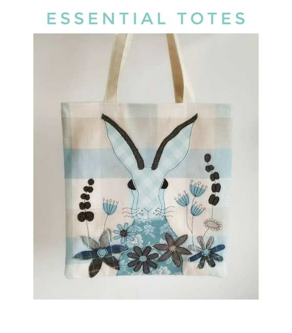 Sewing pattern Harriet Hare Tote Bag by Helen Newton sew make stitch printable template home craft hare