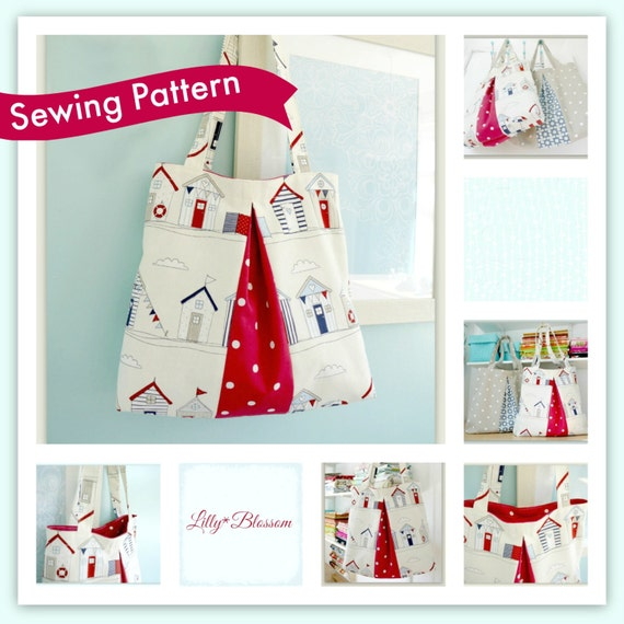 Betty Pleated Tote Bag sewing pattern. Perfect for shopping or   Etsy