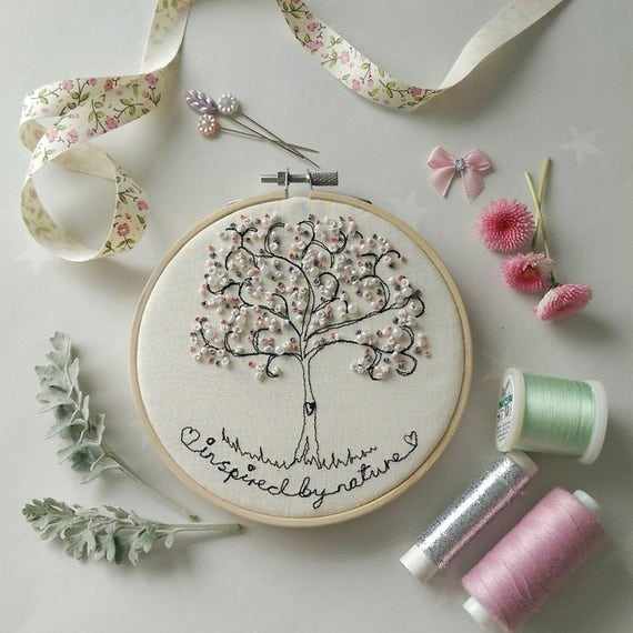Inspired By Nature Freehand Machine Embroidery Tree Framed On Etsy
