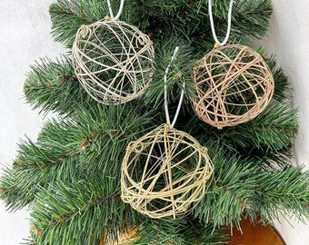 Recycled Guitar String Ornament made from previously played guitar strings Handmade Musician gift