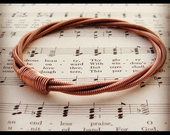 PIANO String Bracelet copper recycled vintage mens or womens One of a kind Gift for Teacher Musician Creative Spirit