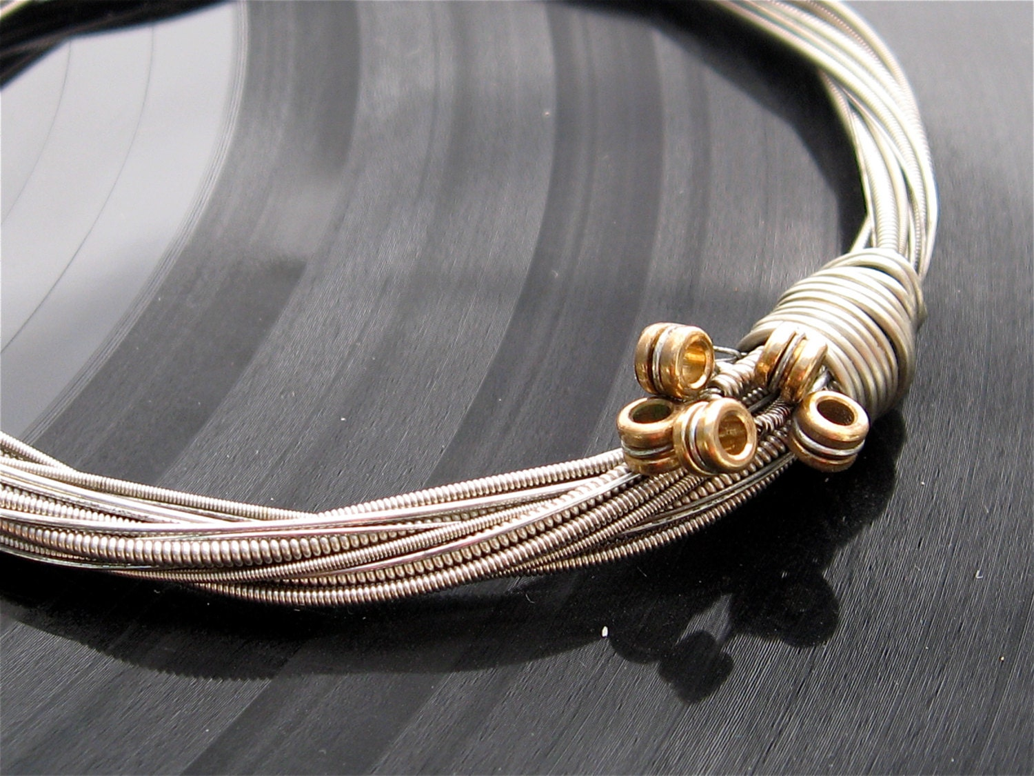 Custom Guitar String Bracelet that I will make out of guitar strings THAT YOU SEND to me Unisex Unique Heirloom one of a kind Keepsake for sale