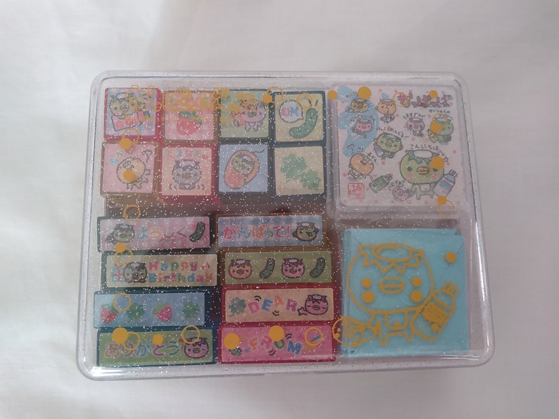 Vintage rare kawaii kappa mini stamp set Pool Cool
