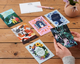 Postcard Set - Beautiful Book Cover Postcards - Literary Gifts - Pack of Twelve