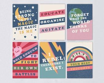 Postcard Set - Slogan - Empowering