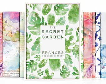 The Secret Garden Book Cover Art Print - Frances Hodgson Burnett - Framed Print - Bookshelf Decor - Botanical Art Print - Book Gift For Her