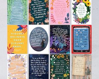Classic Book Quotes Postcard Set - 12 Postcards - 2021 Edition - Literary Postcards